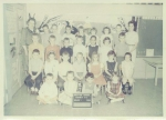 Mrs. Devaney's First Grade Class  In this photo: Mrs. Devaney, Doug Trethaway, James Wyman, Russell Kirby, Leigh Zenker
